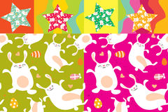 Bunny pattern Stock Photo