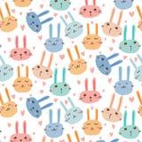 Bunny Pattern Background For Kids mignon Illustration Libre de Droits