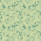 Bunny pattern Stock Photo