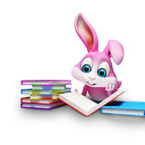 Bunny with pile of egg Royalty Free Stock Images