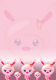 Bunny pink wallpaper Stock Photo