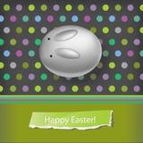 Bunny polka background Stock Photos