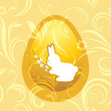 Bunny with willow branch. Easter background Royalty Free Stock Photography