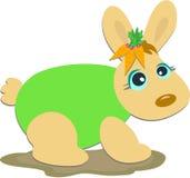 Bunny Rabbit with Carrots Stock Photography
