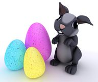 Bunny Rabbit with Easter Egg. 3D Render of Bunny Rabbit with Easter Egg Royalty Free Stock Photography