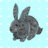 Bunny rabbit Easter ethnic pattern Stock Photo
