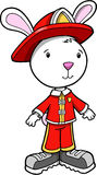 Bunny Rabbit Fireman Royalty Free Stock Images