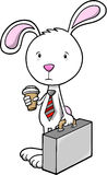 Bunny Rabbit office worker Stock Image
