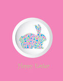 Bunny Rabbit Pastel Dots Greeting Card Royalty Free Stock Photo