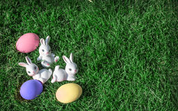 Bunny rabbit pink easter egg Royalty Free Stock Photography