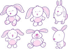 Bunny Rabbit Set Stock Images