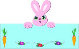 Bunny Rabbit Sign Stock Images