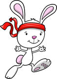 Bunny Rabbit Warrior. Vector Illustration Stock Photo