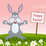 Bunny Rabbit Wishing a Happy Easter Royalty Free Stock Images