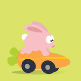 Bunny Racing Carrot Mobile Stock Photography