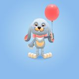 Bunny with red balloon Royalty Free Stock Photography