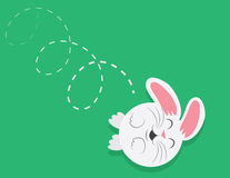 Bunny Rolling Downhill Royalty Free Stock Photo