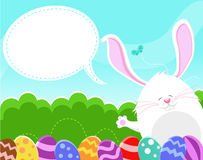Bunny's Easter Message Stock Photos