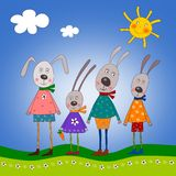 Bunny's family Stock Photo