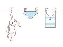 Bunny's laundry Stock Image