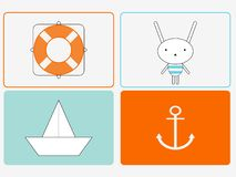 Bunny the Sailor Stock Photography