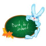 Bunny and the school board Stock Images