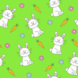Bunny seamless pattern Stock Photography