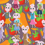 Bunny Seamless Pattern_eps Royalty Free Stock Photography