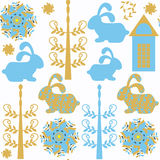 Bunny seamless pattern. It is located in swatch menu, . Cu Royalty Free Stock Image