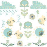 Bunny  seamless pattern. It is located in swatch menu,  im. Age. Cute adorable picture. Funny design backdrop, vector Royalty Free Stock Photography
