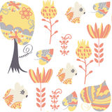 Bunny  seamless pattern. It is located in swatch menu,  im. Age. Cute adorable picture. Funny design colorful backdrop, vector Royalty Free Stock Photo