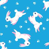 Bunny seamless pattern Royalty Free Stock Images