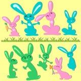 Bunny set Royalty Free Stock Photos