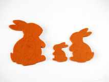Bunny shapes. Different sizes at white background royalty free stock photos
