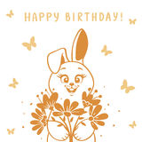 Bunny silhouette Royalty Free Stock Image