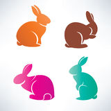 Bunny silhouette collection Stock Photography