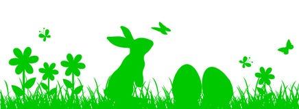 Bunny Sitting In The Meadow, Ostern-Konzept Stock Abbildung