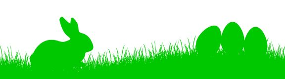 Bunny Sitting In The Meadow, Ostern-Konzept - für Vorrat Stock Abbildung