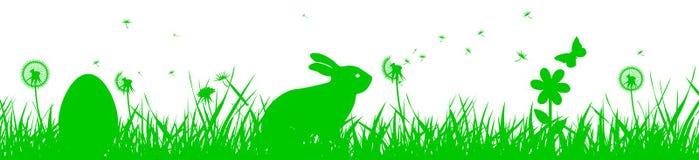 Bunny Sitting In The Meadow, Ostern-Konzept - Vektor Stock Abbildung