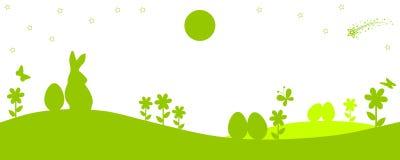 Bunny Sitting In The Meadow, Ostern-Konzept - Vektor Stockbild