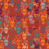 Bunny skull wallpaper Royalty Free Stock Photography