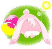 Bunny sleeping Stock Image