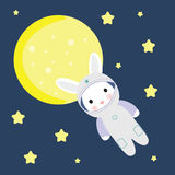 Bunny in Space Royalty Free Stock Image