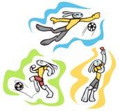 Bunny sport illustrations Royalty Free Stock Photography