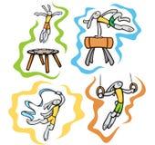 Bunny sport illustrations Stock Image