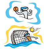 Bunny sport illustrations. Bunny water polo. Great for t-shirt designs, mascot logos and other designs. Vinyl-ready Stock Photography