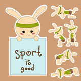 Bunny sport Royalty Free Stock Photography