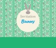 Bunny PRINT border Royalty Free Stock Photography