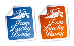 From Bunny stickers. Royalty Free Stock Photos