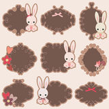 Bunny stickers Royalty Free Stock Image